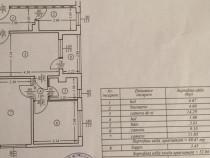 Mihai Bravu zona piata apartament 3 camere cf2A et.1/4