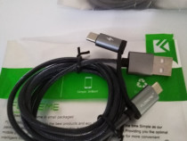 Cablu usb 2 în 1