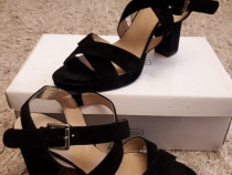 Sandale cu toc negre marimea 39