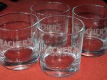 4 pahare whiskey Teacher's, noi
