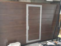 Usa de garaj 2800x2200 imitatie de lemn (Nuc)