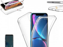 Iphone 5 5S SE 6 6S 7 7+ 8 8+ Husa 360 Din Plastic Clara Fat