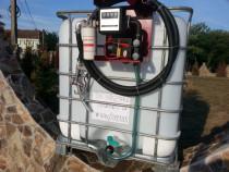 Bazin IBC rezervor cu pompa transfer motorina