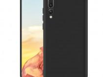 Huawei y6 y7 p smart 2019 - pachet husa silicon clara/neagra