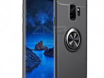 Samsung S10 S10 Plus Husa Placuta Magnetica Si Inel Neagra