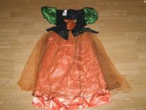 Costum carnaval serbare vrajitoare zana toamnei 4-5-6 ani