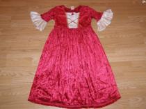Costum carnaval serbare rochie medievala regina 3-4-5 ani