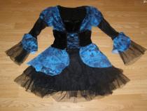 Costum carnaval serbare rochie medievala regina adulti S-M