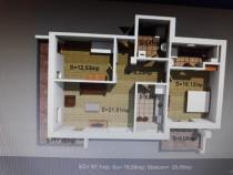 Apartament 3 camere Damaroaia etaj 1