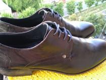 Pantofi piele originalii Bugatti marimea 46 (30 cm)