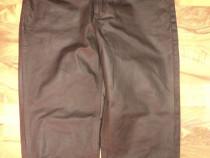 Pantaloni de barbat, din piele,model clasic cu nasturi,52