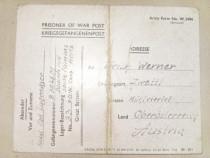 A573-I-ww2-Scrisoare soldat german din lagar prizonieri.