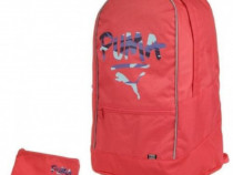 Rucsac Puma Pioneer + penar -47x29x19cm -roz- factura garant