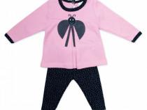 Compleu de toamna fete (copii) 2 piese | Compleu bebe roz