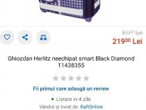 Ghiozdan neechipat Herlitz smart black Diamond, cadou penar