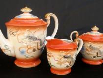 Set Dragon 3 piese cafea portelan China anii 70 ceainic
