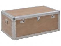 Ladă de depozitare, maro, 91 x 52 x 40 cm,lemn masiv de brad