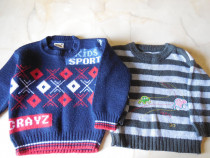 Doua bluze tricotate pentru baietel