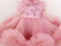 Rochita Noua Botez , rochie fetite 0-6 luni