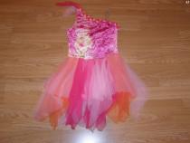 Costum carnaval serbare rochie dans zana toamnei 6-7 ani