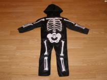 Costum carnaval serbare schelet pentru copii de 3-4 ani