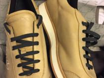 Sneakers Ermenegildo Zegna camel soft leather/light brown.