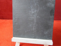 'Vintage Home'-decoratiune sevalet lemn cu tabla creta-cadou