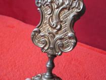Antique Solid Brass Cigarette Match Holder-bronz masiv-cadou