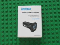 Choetech C0051 30W Dual USB Car Charger