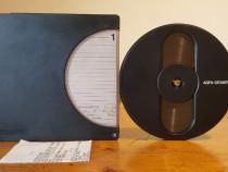 Carcasa, rola si banda magnetofon AGFA GEVAERT 18 cm