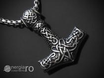 Medalion Pandantiv Ciocanul lui Thor Mjolnir INOX cod PND153