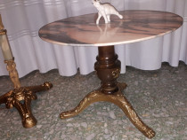 Masuta de salon din bronz ,lemn,si marmura