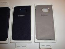 Husa Samsung originala Galaxy S6 Edge flip wallet textil