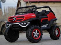 Masinuta electrica Mercedes unimog standard 2x45w 12v #rosu