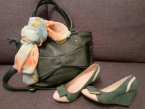 Set: pantofi,geanta si esarfa
