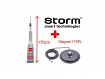 Antena Statie CB Storm ML170 Turbo 170cm + Magnet 170PL NOU