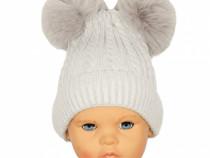 Caciula iarna bebe | Caciula iarna copii | Caciula gri petro