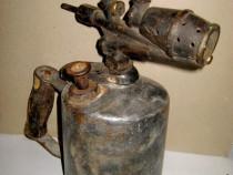 B177-Lampa benzina mare parlit metal cap alama solida stare