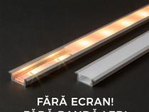 Profil din aluminiu pt. benzi LED 1000x23x8mm