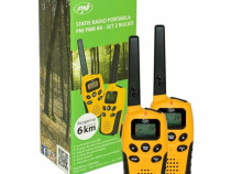 Statie Radio Walkie Talkie Pni PMR R6 Set 2 Buc