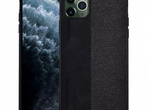 Husa Telefon Plastic Apple iPhone 11 Pro Max 6.5 Textil Blac