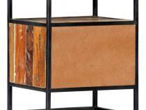 Noptieră, 40x30x50 cm, lemn masiv reciclat și 282725