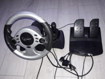 Volan Gembrid cu schimbator,pedale,vibratii,USB,PS2,WII,XBox