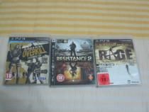 Pachet 3 jocuri PS3,Resistance 2, Rage Anarchy, Overkill