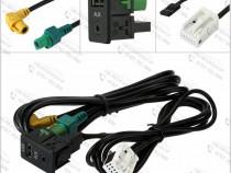 Cablu auxiliar AUX / USB Volkswagen Passat B6 B7 CC Touran P