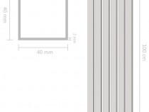 Tuburi din aluminiu, secțiune pătrată, 143173