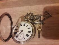 Ceas de buzunar din argint englezesc William Gilson- 1898