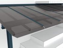 Compact solid inlocuitor sticla securizata clar / fumuriu