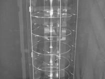 Vitrina rotativa cu 6 polite si iluminare cu LED-uri SVE 2.2
