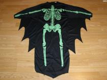 Costum de carnaval serbare schelet pentru copii de 7-8 ani